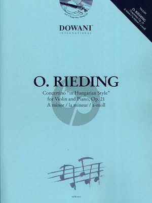 Rieding Concertino a-minor Op.21 (Hungarian Style) Violin-Piano (1 - 3 pos.) (Bk-Cd) (Dowani)