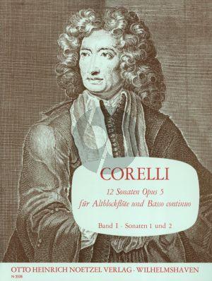 Corelli 12 Sonaten Op.5 Vol.1 (No.1-2 F-dur/C-dur) fir Altblockflote und Bc (Herausgegeben von Martin Nitz)