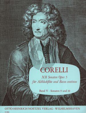 Corelli 12 Sonaten Op.5 Vol.5 (No.9-10 C-dur/G-dur) fur Altblockflote und Bc (Herausgegeben von Martin Nitz)