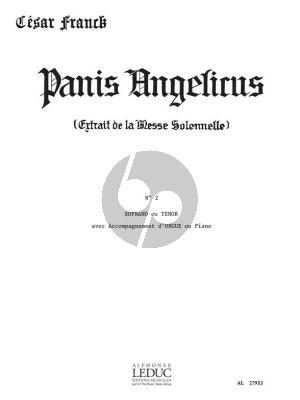 Panis Angelicus Voix Soprano ou Tenor et Orgue