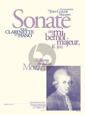 Mozart Sonate E-flat major KV 302 Clarinette et Piano (Jean-Claude Veilhan)
