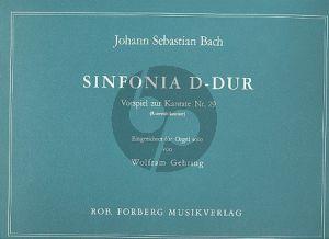Bach Sinfonia D dur (Vorspiel Kantate nr.29 fur Orgel) (ed. Wolfram Gehring)