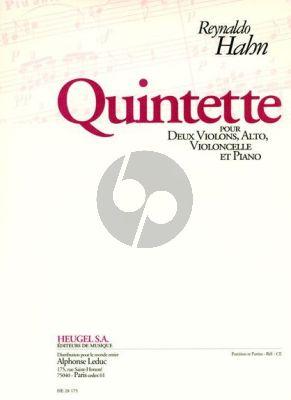 Hahn Quintette 2 Violons-Alto-Violoncello-Piano (Part./Parties)