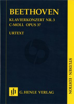 Beethoven Concerto c-minor No.3 Op.37 (Piano-Orch.) (Study Score) (Henle-Urtext)