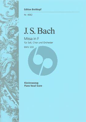 Bach Messe F-dur BWV 233 Soli-Chor-Orchester Klavierauszug (Lutherische Messe No. 2) (Salomon Jadassohn)