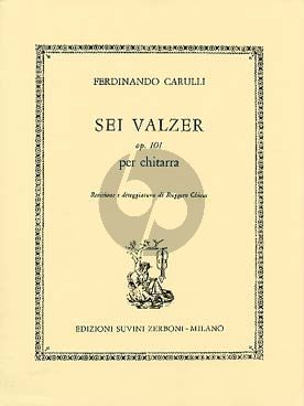 Carulli 6 Valzer Op.101 Guitar (Ruggero Chiesa)