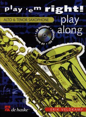 Veldkamp Play 'em Right - Play Along for Alto or Tenor Saxophone (Bk-Cd) (grade 3)