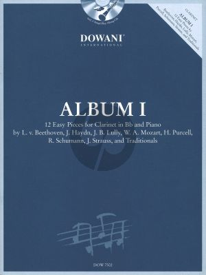 Dowani Album Vol.1 Clarinet (Easy) (Solo Part[Bb]-CD) (Dowani)