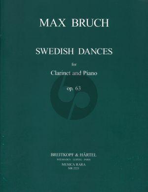 Bruch Swedish Dances Op.63 Clarinet[Bb]-Piano