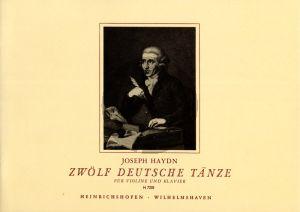Haydn 12 Deutsche Tanze Violine und Klavier (edited by Waldemar Twarz)