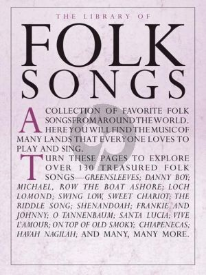 Library of Folk Songs Piano-Vocal-Guitar