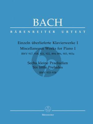 Bach Einzeln uberlieferte Klavierwerke Vol.1 (Urtext) der Neuen Bach-Ausgabe)
