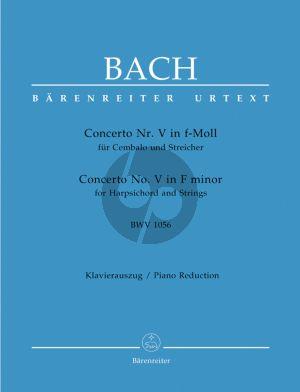 Bach Concerto No.5 f-minor BWV 1056 (Harpsichord- Strings) (piano red.) (edited by Werner Breig) (Barenreiter-Urtext)