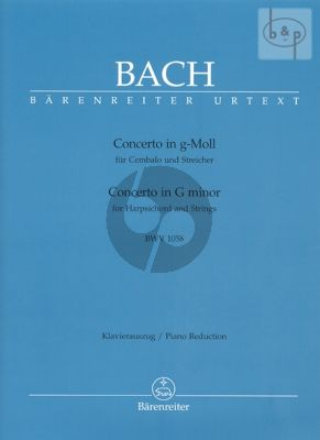 Concerto g-minor BWV 1058 (Harpsichord-Strings) Edition 2 Piano's