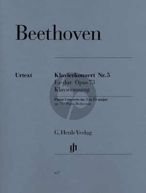 Beethoven Concerto No.5 Op.73 E-flat major (Piano-Orch.) (reduction for 2 Piano's) (edited by Hans Kahn) (Henle-Urtext)