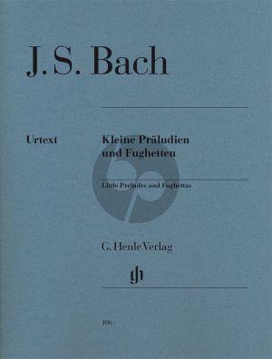 Bach Kleine Praeludien-Fughetten Klavier (Herausgegeben von Rudolf Steglich Fingersatz Hans-Martin Theopold) (Henle-Urtext)