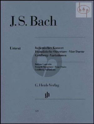 Bach Italienisches Konzert - Franzosische Ouverture - 4 Duette - Goldberg-Variationen Klavier (Rudolf Steglich) (Henle-Urtext)
