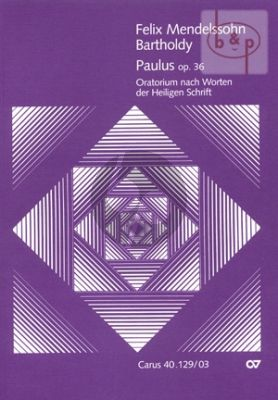Paulus Op.36 (SATB[soli]-SATB[choir]-Orch.) (Vocal Score)