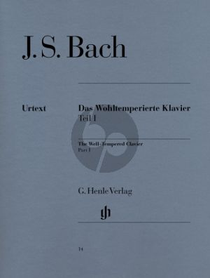 Bach Das Wohltemperierte Klavier Vol.1 BWV 846 - 869 (edited by E.G.Heinemann and fingering by Andras Schiff) (Henle-Urtext)