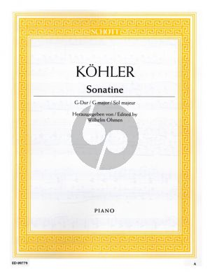 Kohler Sonatina G-major Piano solo (Wilhelm Ohmen)