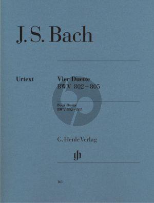 Bach 4 Duette BWV 802 - 805 Klavier (Rudolf Steglich)