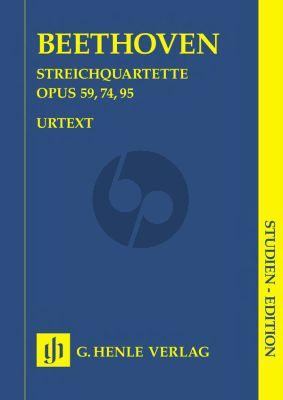 Beethoven Quartets Op.59 - 74 - 95 (String Quartet) (Study Score) (Henle-Urtext)