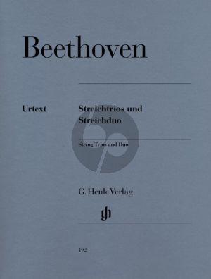 Beethoven Streichtrios und Streichduo (Stimmen) (Herausgegeben von Emil Platen und Robert D. Levin) (Henle-Urtext)