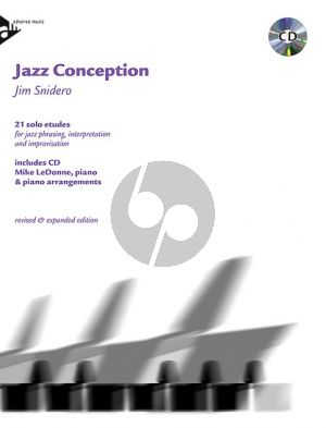 Snidero Jazz Conception Piano (21 Solo Etudes Jazz Phrasing- Interpretation-Improvisation) (Bk-Cd)