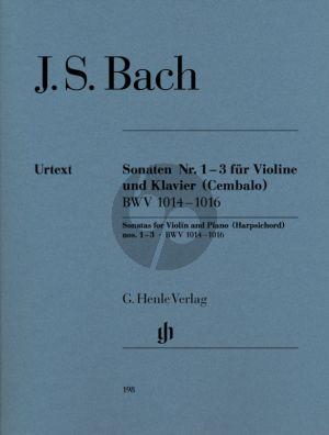Bach 6 Sonaten Vol.1 BWV 1014-1016 Violine - Basso Continuo (Hans Eppstein (Herausgeber), Hans-Martin Theopold (Fingersatz), Karl Röhrig (Fingersatz Violine)) (Henle-Urtext)