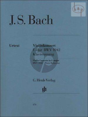Konzert E-dur BWV 1042 Violine und Klavier