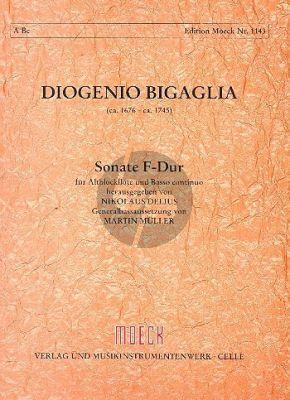 Bigaglia Sonate F dur Altblockflöte und Bc (Nikolaus Delius)