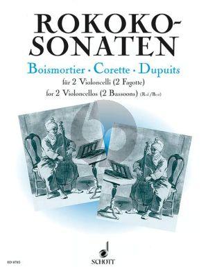 Rokoko Sonaten (de Boismortier-Corrette-Dupuits) 2 Violoncellos (or 2 Bassoons) (Ruf)