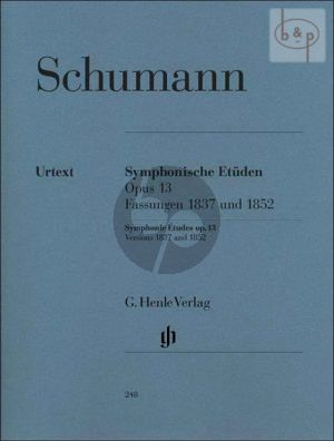 Schumann Symphonic Studies Op.13 Piano (Version of 1837 and 1852) (Ernst Herttrich)