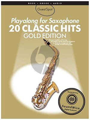 Guest Spot 20 Classic Hits Playalong Gold Ed. altosax. book-CD