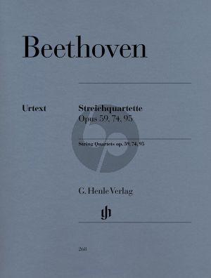 Beethoven Streichquartette Op.59 - 74 - 95 (Stimmen) (Henle-Urtext)