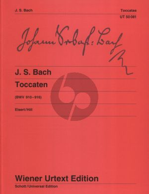 Bach Toccaten BWV 910 - 916 Klavier (Edited by Christian Eisert - Fingering by Robert Hill) (Wiener-Urtext)
