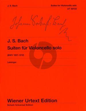 Bach 6 Suiten (BWV 1007 - 1012) Violoncello Solo (Herausgegeben von Ulrich Leisinger) (Wiener Urtext)