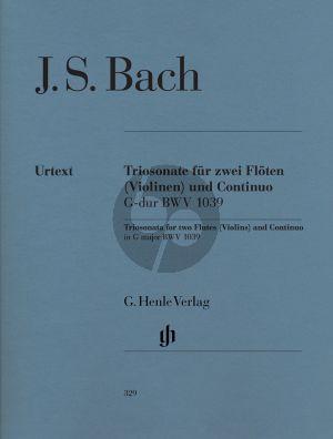 Bach Sonate G-dur BWV 1039 (mit rekonstruierter Fassung 2 Violinen)