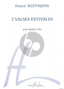 Kleynjans 2 Valses Estivales pour Guitare