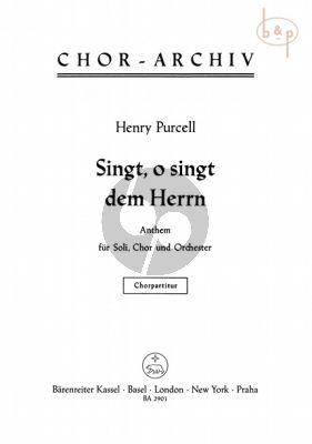 O, Sing unto the Lord (Anthem) (SATB soli-SATB- Str.-Bc)