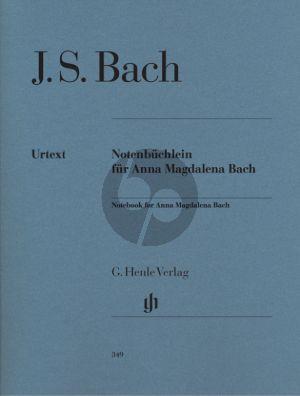Bach Notenbuchlein für Anna Magdalena Bach 1725 Klavier (Herausgegeben von Ernst-Günter Heinemann - Fingersatz H.M. Theopold) (Henle Urtext)