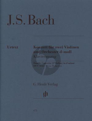 Bach Konzert d-moll BWV 1043 2 Violinen-Streicher-Bc Klavierauszug (Hans Eppstein) (Henle-Urtext)