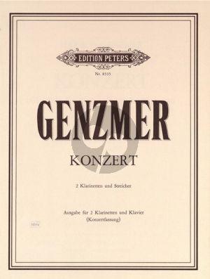 Konzert für 2 Klarinetten und Streicher (1983)