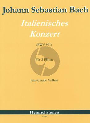 Bach Italienisches Konzert BWV 971 fur 2 Floten (Veilhan)