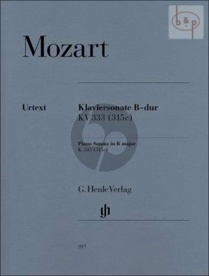 Sonate B-dur KV 333 - 315c (edited by Ernst Herttrich)