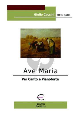 Caccini Ave Maria High Voice-Piano