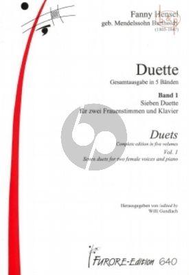 """Hensel Duette Vol.1 Soprano [e'-g""""] / Soprano[ b-e""""] [Alto] (Goethe) (Willi Gundlach)"""