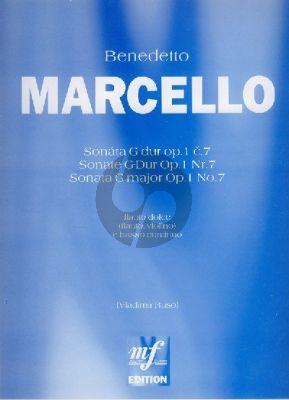 Marcello Sonata G-major Op. 1 No. 7 Treble Recorder and Bc