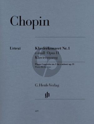 Chopin Konzert No.1 e-moll Op.11 Klavier und Orchester (edited by Ewald Zimmermann) (Klavierauszug) (Ewald Zimmermann)