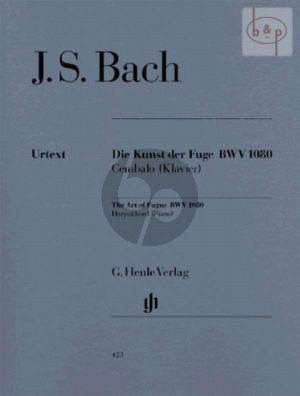 Kunst der Fuge BWV 1080 Piano (without fingering)